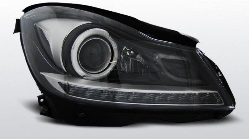 Faruri Mercedes W204 dupa 2011- Negru