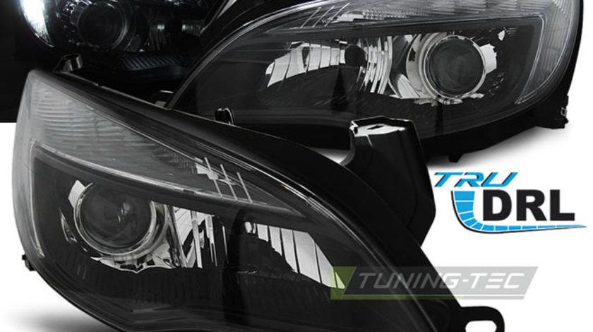 Faruri Opel Astra J din 2010- TRU DRL Negru