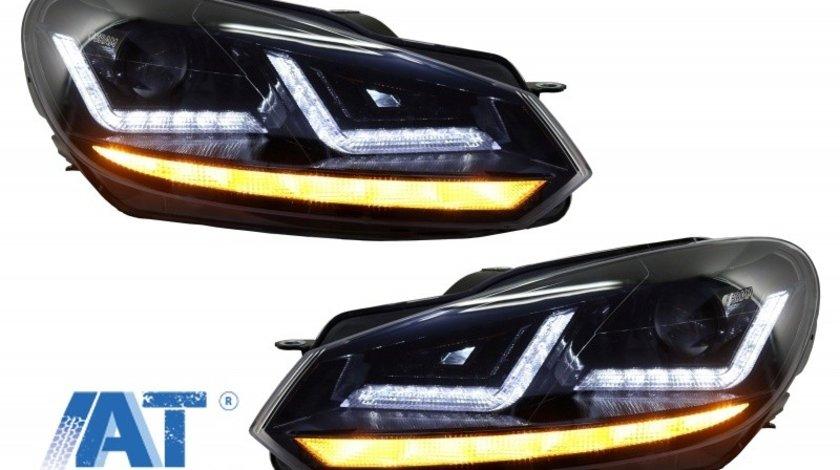 Faruri Osram Full LED compatibil cu VW Golf 6 VI (2008-2012) Black LEDriving RHD Semnal Dinamic