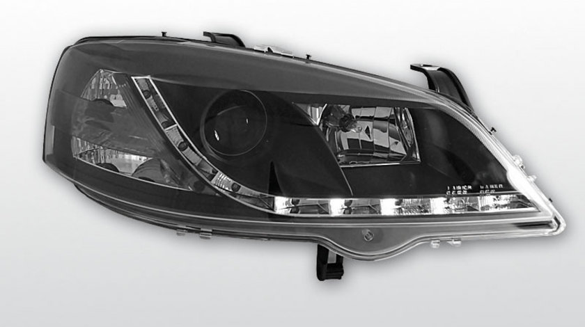 Faruri pentru Opel Astra G, model Daylight, Negru