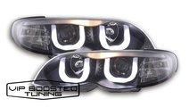 Faruri tuning Angel Eyes 3D cu lupe BMW E46 LCI (2...
