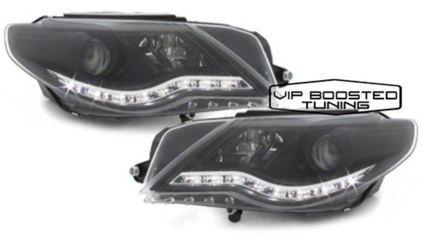 Faruri TUNING dayline VW Passat CC crom sau negre