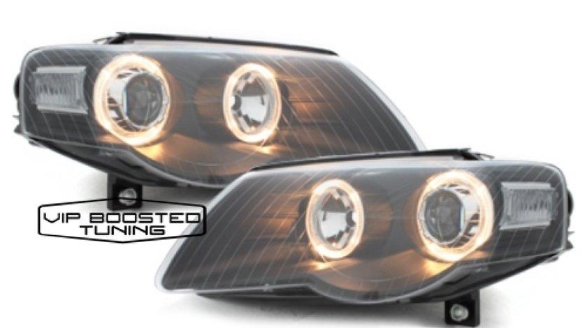 Faruri TUNING VW Passat 3C B6 2005+ Pozitie Angeleyes Negre