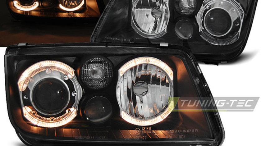 Faruri VW Bora 1998-2008 ANGEL EYES Negru