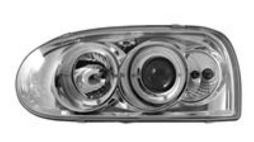 Faruri VW Golf 3 cromat Angel eyes