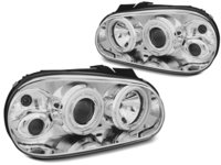 Faruri VW GOLF 4 1997-2003 Angel eyes CCFL Cromat