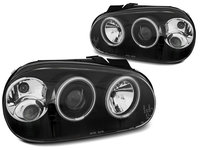 Faruri VW GOLF 4 1997-2003 Angel eyes CCFL Negru