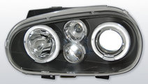 Faruri VW Golf 4 1997-2003 Angel eyes Negru