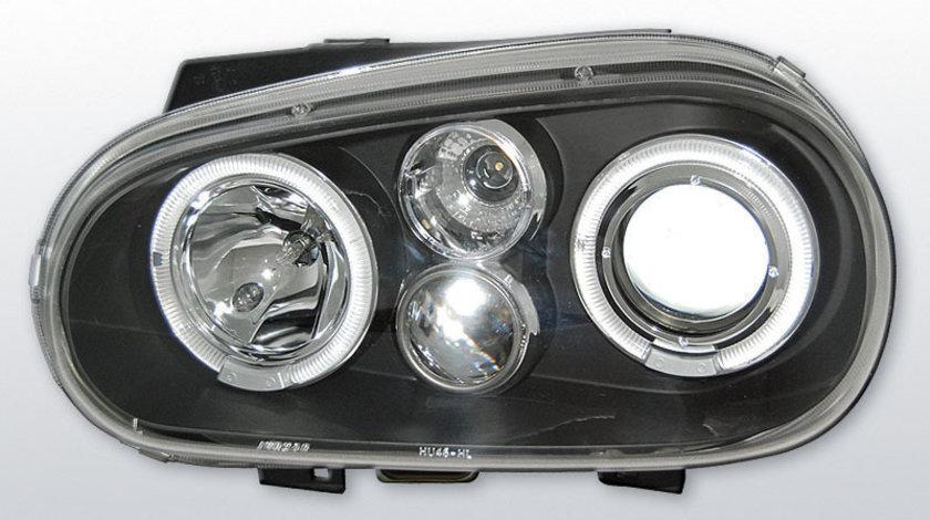 Faruri VW Golf 4 1997-2003 Angel eyes Negru