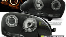 Faruri VW GOLF 5 10.2003-2009 cu ANGEL EYES fond n...