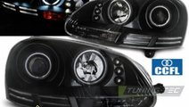 Faruri VW Golf 5 Angel eyes CCFL Negru