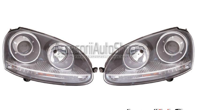 Faruri VW GOLF 5 cu lupe