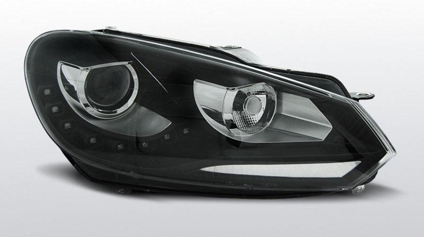 Faruri VW Golf 6 2008-2012 Daylight TRU DRL Negru