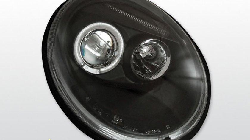 Faruri VW New Beetle Angel Eyes Negru
