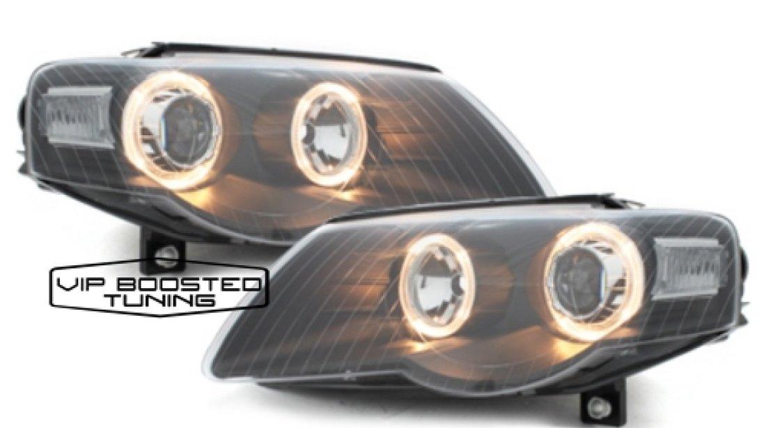 Faruri  VW Passat 3C B6 2005+ Pozitie Angeleyes Negre
