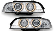 Faruri Xenon BMW E39 Seria 5 95-00 Angel Eyes crom
