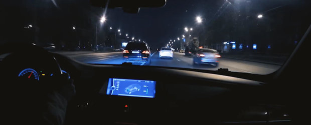 Fast and Furious in Moscova: un BMW X5M se alearga cu un Mercedes ML63 AMG in miez de noapte
