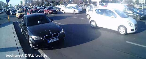 Feciorul cu BMW din Bucuresti care se crede smecher are nevoie de o bara noua