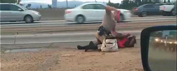Femeie batuta grav de un politist american. ATENTIE, IMAGINI SOCANTE!
