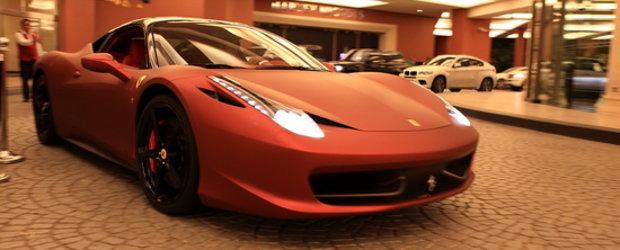 Ferrari 458 Italia din Dubai - Demonul in haina rosu mat
