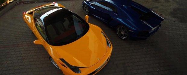 Ferrari 458 Italia si Lamborghini Aventador in Bucuresti by EvlSkillz