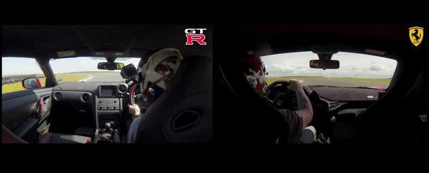 Ferrari 458 Speciale vs Nissan GT-R: Care-i mai rapid pe circuit?