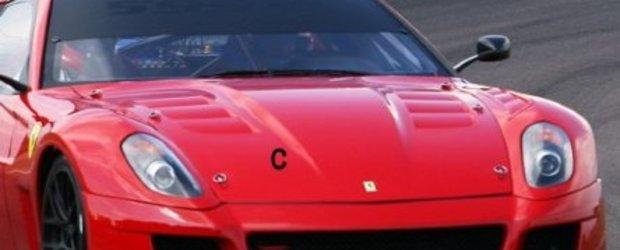 Ferrari 599XX a fost surprins in teste pe circuitul Fiorano