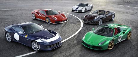 Ferrari aniverseaza cu stil cei 70 de ani. Italienii au adus la Paris 5 modele speciale dedicate unor figuri importante din istoria sa