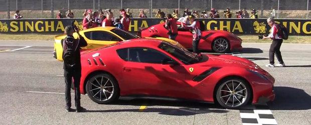 Ferrari F12tdf debuteaza zgomotos la Mugello. Cum suna supercarul italian