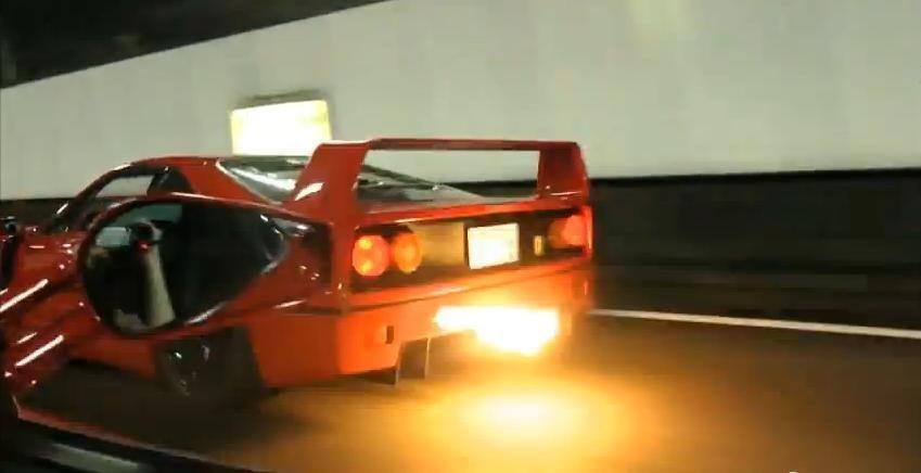 Ferrari F40 in tunel: cea mai frumoasa muzica incendiara din univers!