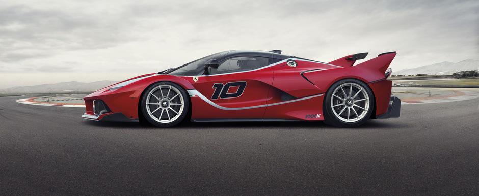 Ferrari FXX K e masina de curse cu aspect de racheta si 1.050 CP sub capota