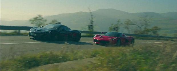 Ferrari LaFerrari si McLaren P1 se intrec pe drumurile serpuite ale Italiei