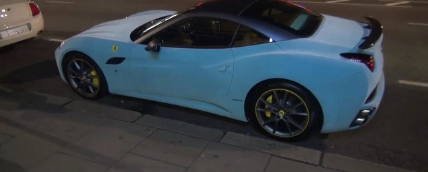 Ferrari-ul din catifea de pe strazile Parisului