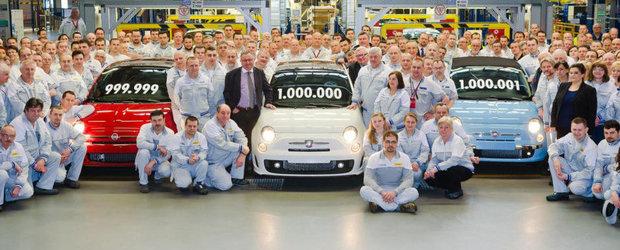 Fiat 500 a depasit pragul de 1 milion de unitati la fabrica din Polonia
