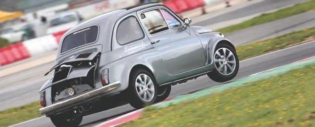 Fiat 500 cu motorizari extreme de Lamborghini, Porsche si Ferrari