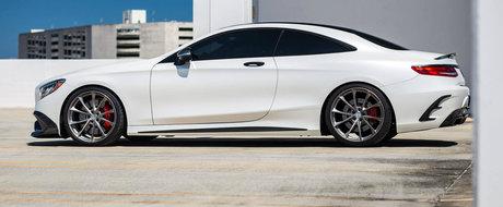 Fibra de carbon si jantele turbionare schimba complet fata acestui Mercedes S63 Coupe. GALERIE FOTO