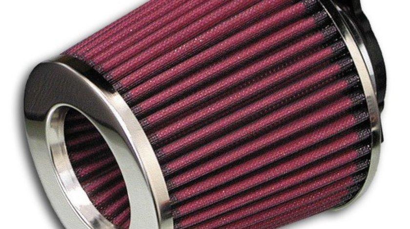 Filtru aer sport cu diametru 60 / 70 / 76 / 84 si 90mm universal Rosu cu capac Cromat