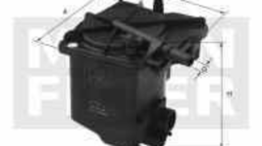 filtru combustibil CITROËN BERLINGO caroserie M MANN-FILTER WK 939/2 z