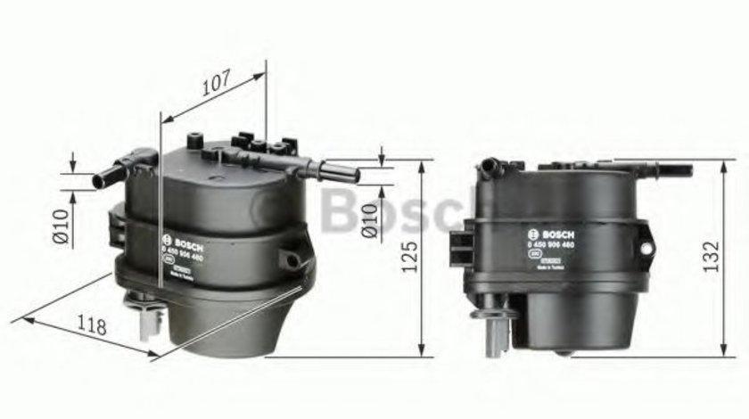 Filtru combustibil CITROEN C1 (PM, PN) (2005 - 2016) BOSCH 0 450 906 460 produs NOU
