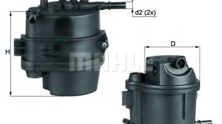 Filtru combustibil CITROEN C1 (PM, PN) (2005 - 2016) MAHLE ORIGINAL KL 777D produs NOU