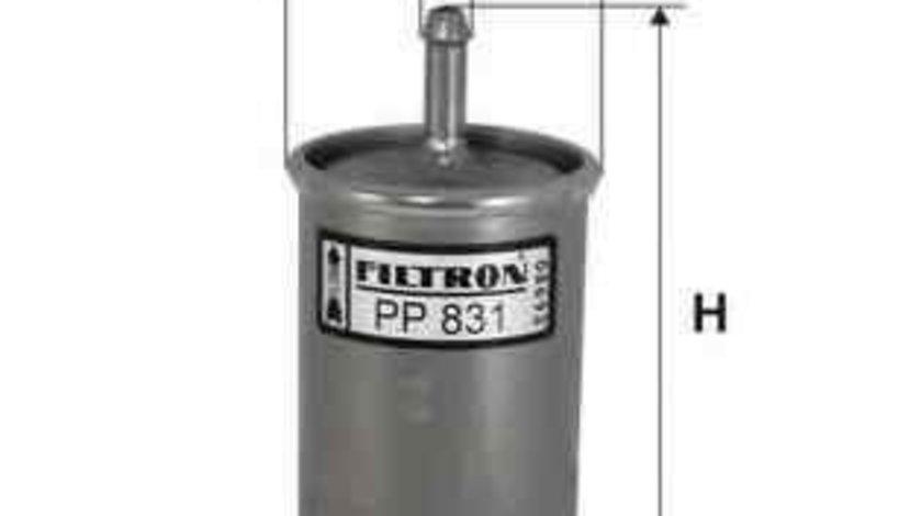 Filtru combustibil FIAT CINQUECENTO (170) Producator FILTRON PP831