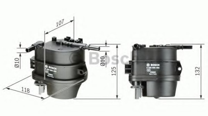 Filtru combustibil MAZDA 2 (DE) (2007 - 2015) BOSCH 0 450 906 460 piesa NOUA