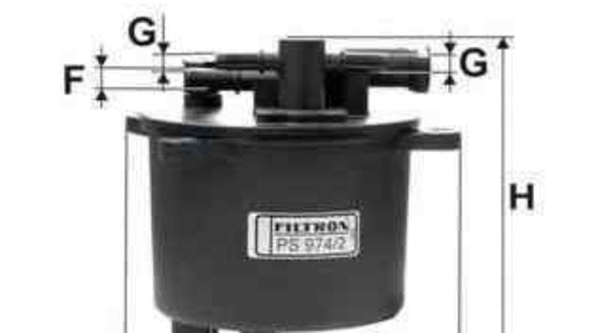 filtru combustibil MITSUBISHI OUTLANDER II (CW_W) FILTRON PS974/2