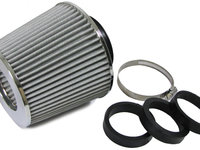 Filtru de aer Argintiu cu adaptoare 60 / 65 / 70 mm