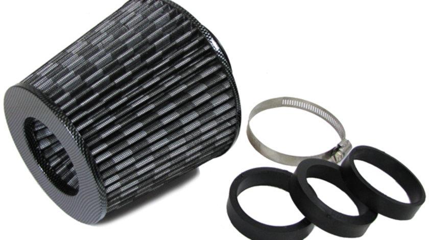 Filtru de aer Carbon cu adaptoare 60 / 65 / 70 mm