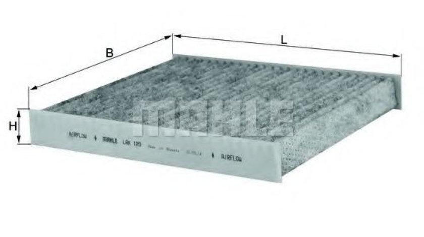 Filtru polen / aer habitaclu carbon activ AUDI A2 (8Z0) (2000 - 2005) MAHLE ORIGINAL LAK 120 produs NOU