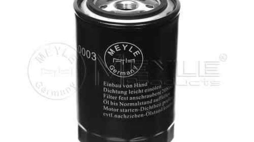 Filtru ulei AUDI 80 (89, 89Q, 8A, B3) MEYLE 100 115 0003
