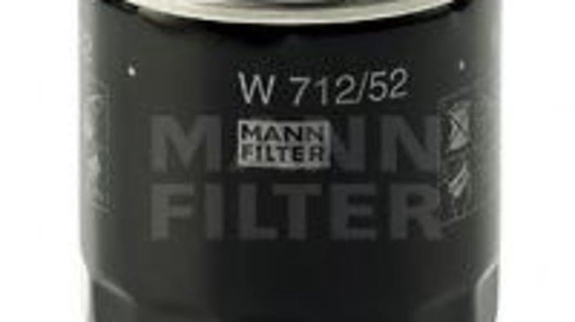 Filtru ulei AUDI A2 (8Z0) (2000 - 2005) MANN-FILTER W 712/52 piesa NOUA