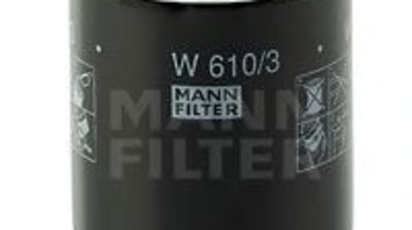 Filtru ulei CITROEN C-CROSSER ENTERPRISE (2009 - 2016) MANN-FILTER W 610/3 piesa NOUA