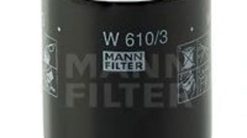 Filtru ulei CITROEN C4 AIRCROSS (2010 - 2016) MANN-FILTER W 610/3 - produs NOU